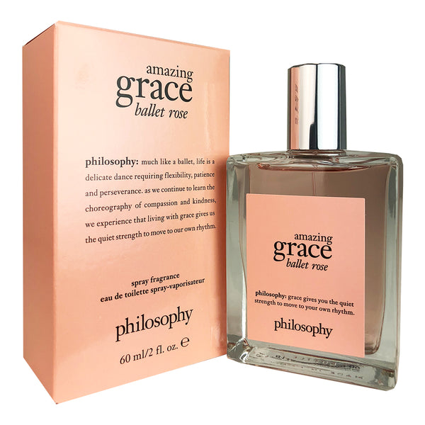 Amazing Grace Ballet Rose for Women by Philosophy 2 oz Eau De Toilette Spray