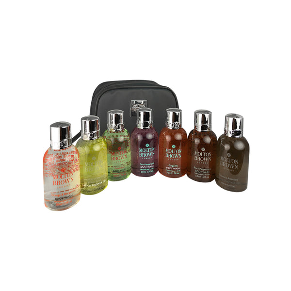 Molton Brown 7 Piece Body Wash Jet Set Travel Collection