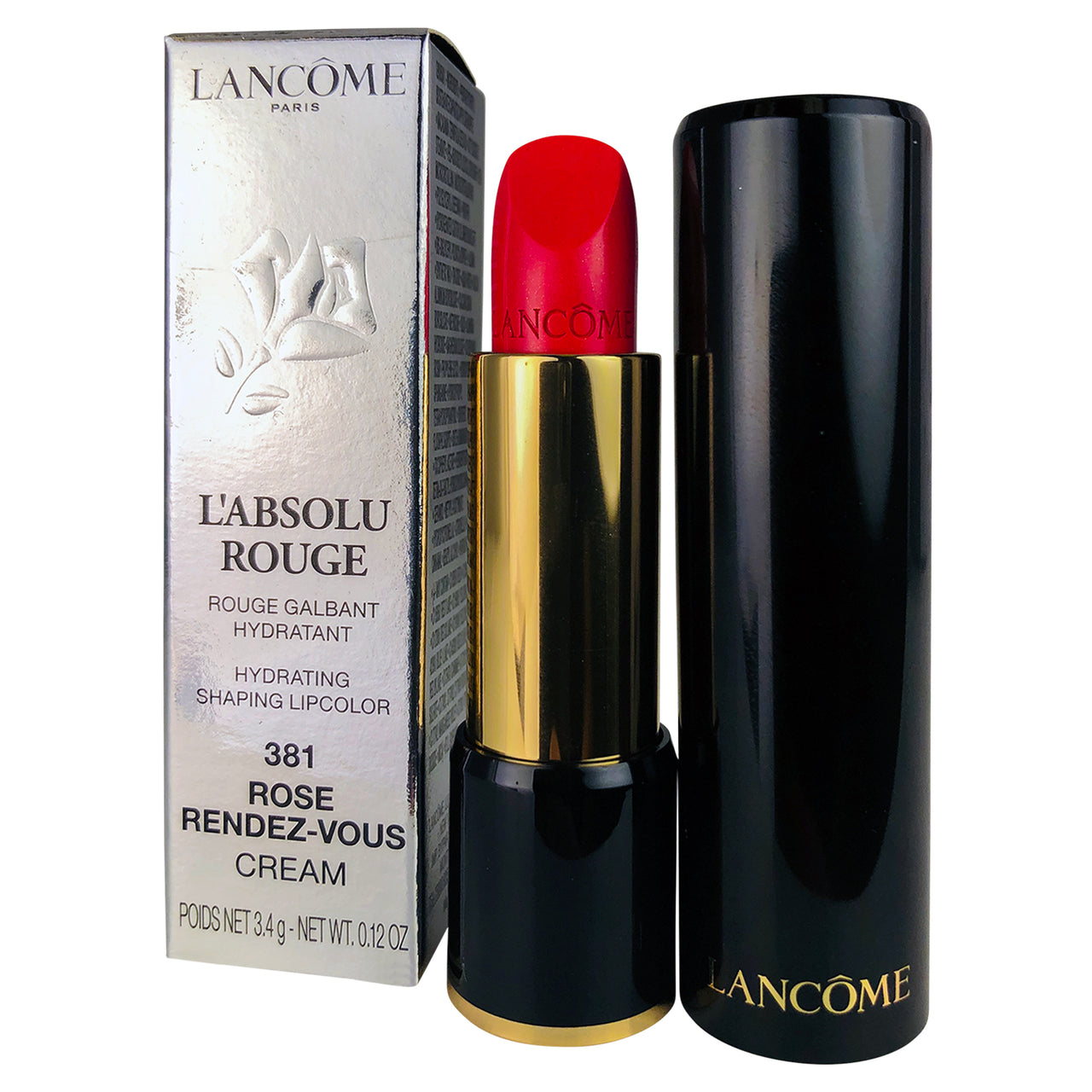 Lancome l'Absolu Rouge 381 Rose Rendez-Vous Lip Color 0.12 oz