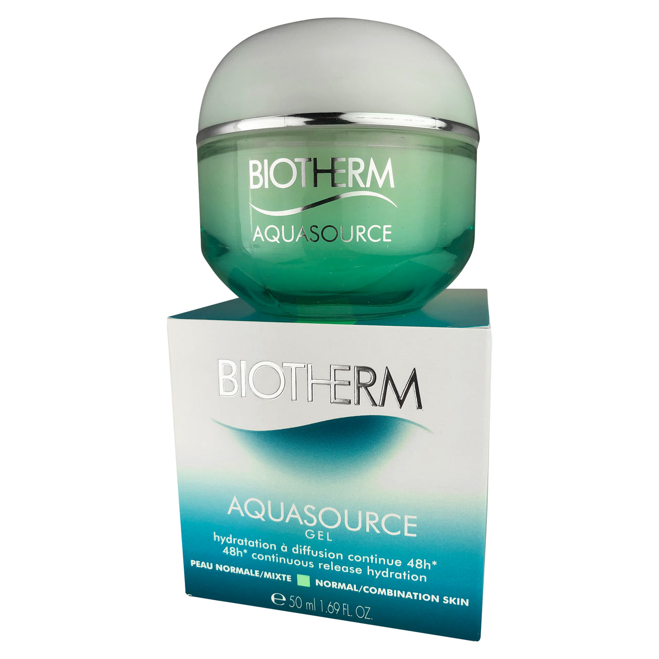 Biotherm Aquasource Face Gel 48 hr Hydration Normal to Combination Skin 1.69 oz