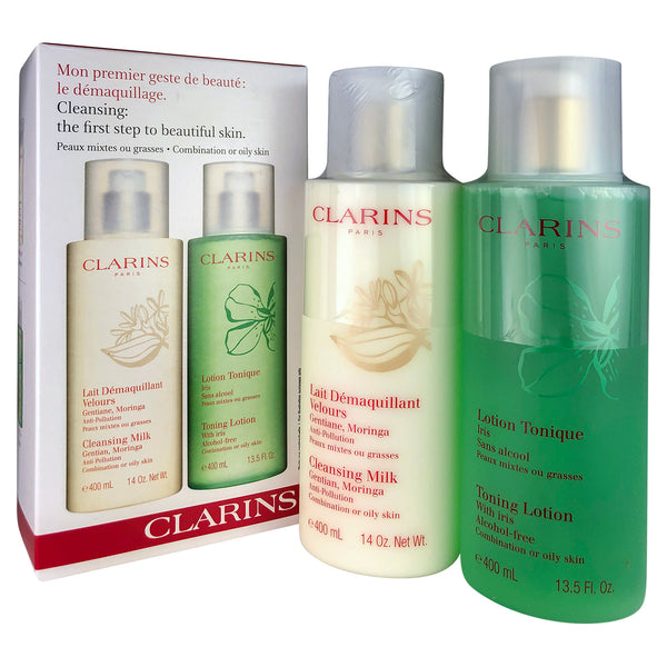 Clarins Cleansing Milk & Toning Lotion Oily Skin14/13.5 oz