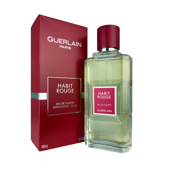 Habit Rouge for Men by Guerlain 3.4 oz Eau De Toilette Spray