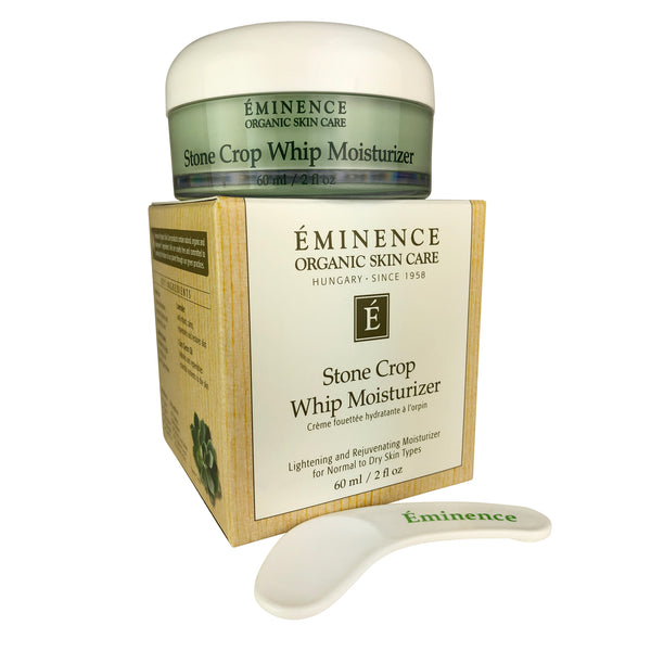 Eminence Organic Skin Care Stone Crop Whip Moisturizer Lightening And Rejuvenating Face Moisturizer For Normal To Dry Skin Types 2 oz