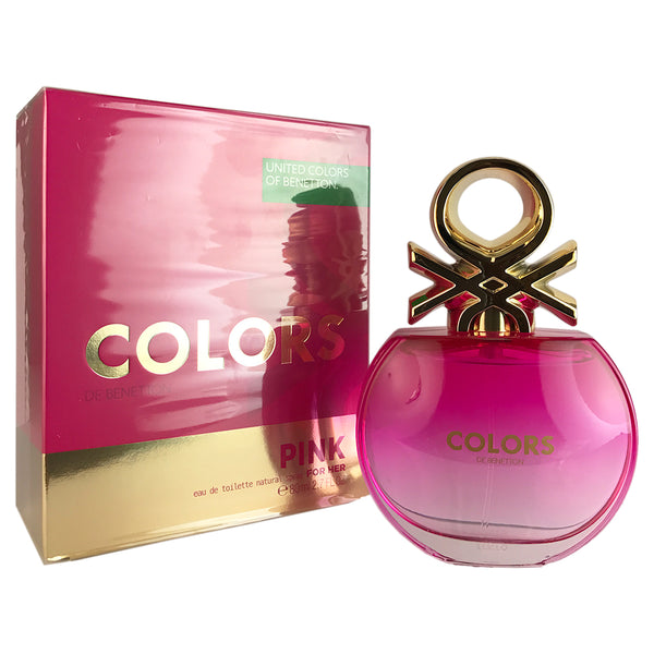 Benetton Colors Pink For Women by Benetton 2.7 oz Eau De Toilette Spray