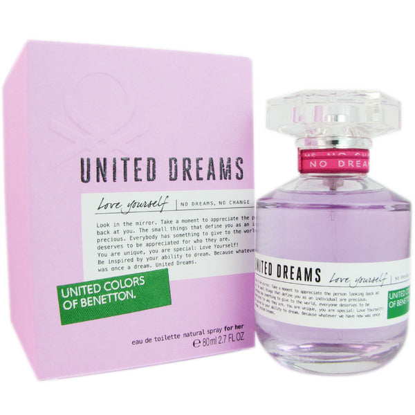 Benetton United Dreams Love Yourself Women 2.7 oz Eau de Toilette Spray