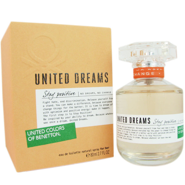 United Dreams Stay Positive for Women by Benetton 2.7 oz Eau de Toilette Spray