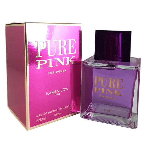 Pure Pink for Women by Karen Low 3.4 oz Eau de Parfum Spray