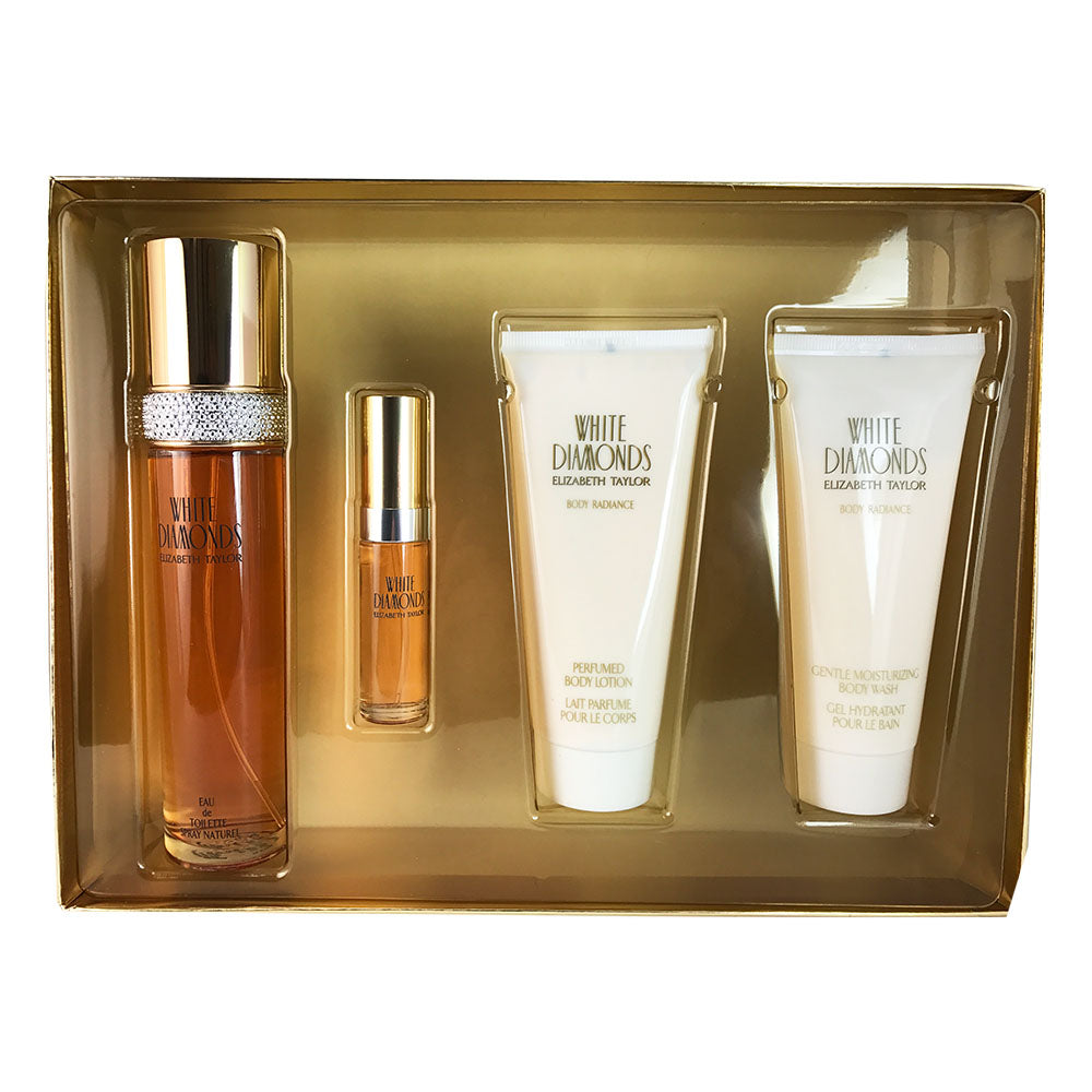 White Diamonds for Women By Elizabeth Taylor 4 Piece Gift Set