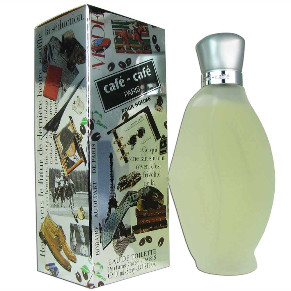 Cafe Cafe for Men by Cofinluxe 3.4 oz Eau de Toilette Spray