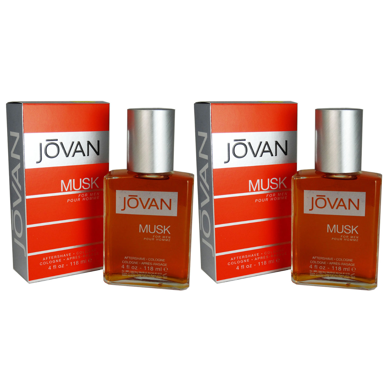 Jovan Musk 4 oz Aftershave Cologne 2 Pack