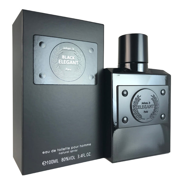 Elegant Black For Men By Johan B. 3.4 oz Eau De Toilette Spray