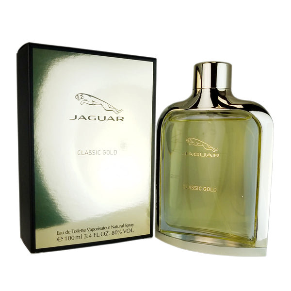 Jaguar Classic Gold for Men 3.4 oz Eau De Toilette Spray