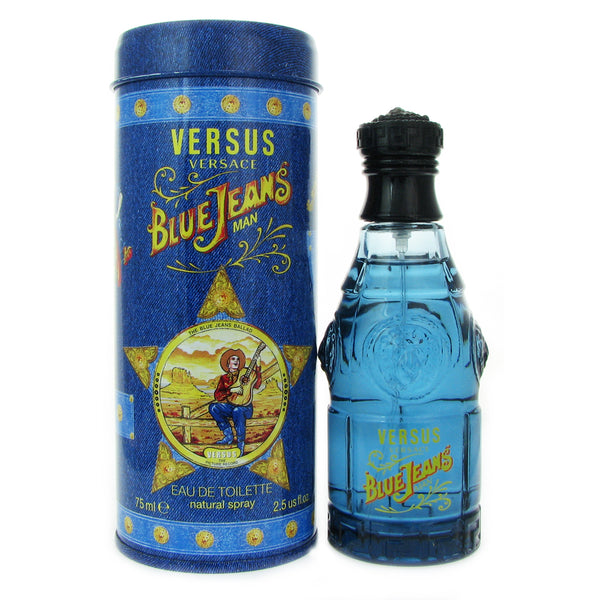 Versace Blue Jeans for Men 2.5 oz 75 ml Eau de Toilette Spray