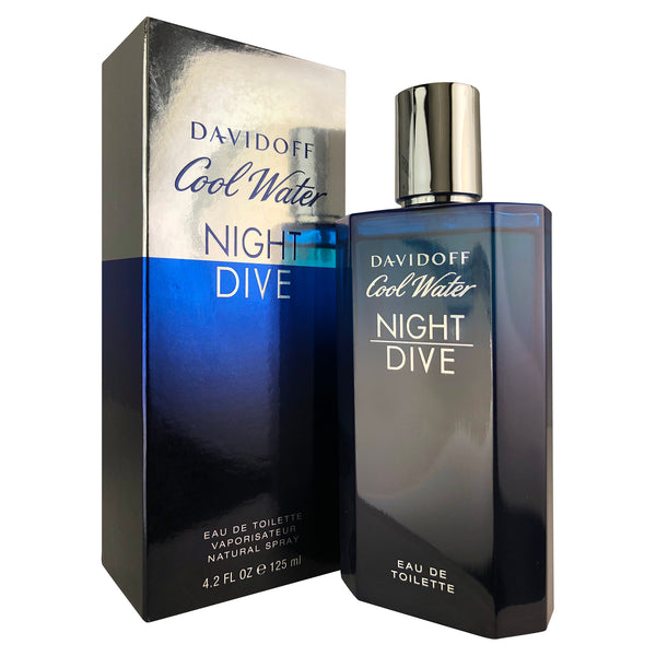 Cool Water Night Dive Cologne For Men by Davidoff 4.2 oz Eau de Toilette Spray
