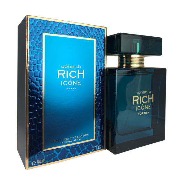 Rich Icone For Men By Johan B. 3.0 oz Eau De Toilette Spray