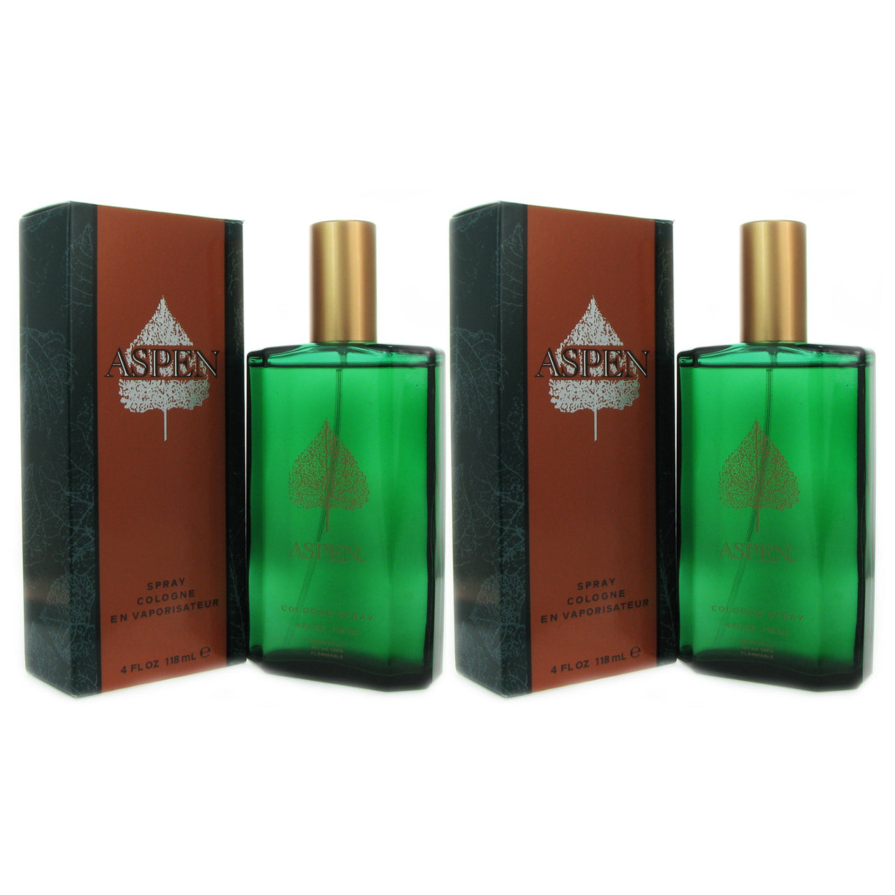 Aspen For Men By Coty 4.0 oz Eau de Cologne Spr-TWO