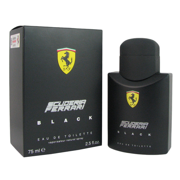Ferrari Scuderia Black for Men 2.5 oz Eau de Toilette Natural Spray