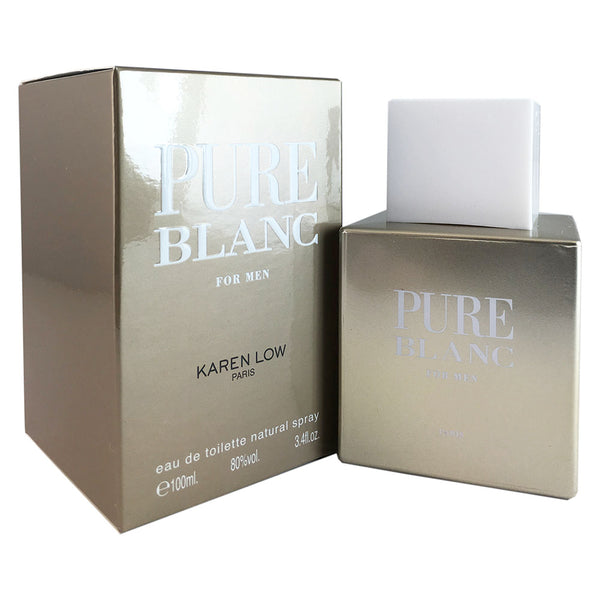 Pure Blanc for Men by Karen Low 3.4 oz Eau de Toilette Spray