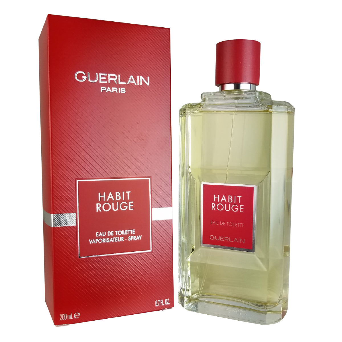 Habit Rouge for Men by Guerlain 6.7 oz Eau de Toilette Spray