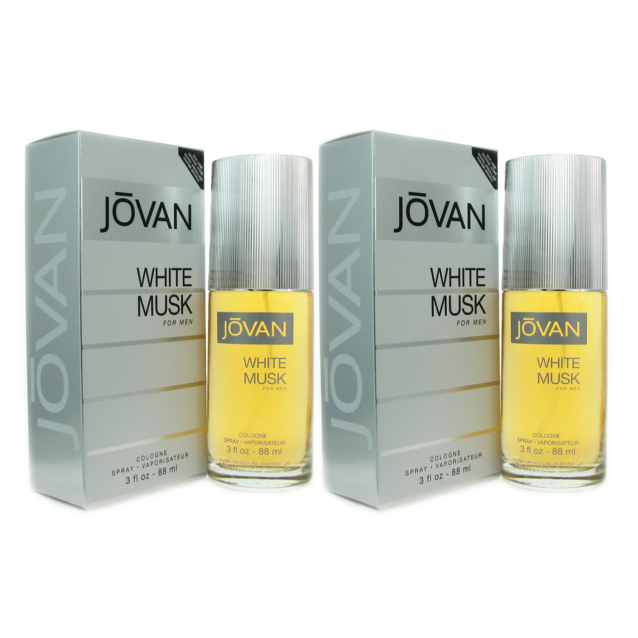 Jovan White Musk Men Coty 3 oz Col Sp  TWO