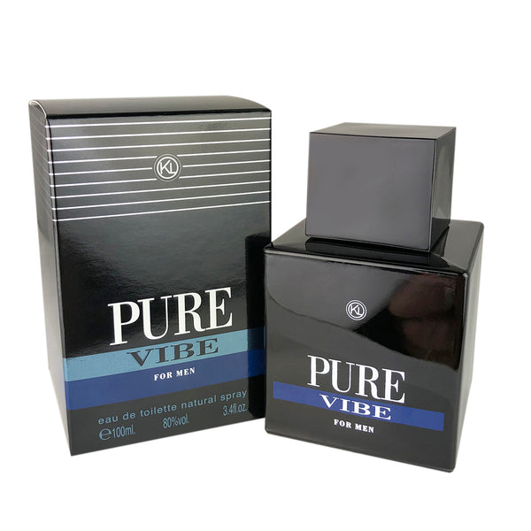 Pure Vibe for Men by Geparlys Parfums Karen Low 3.4 oz Eau de Toilette Spray