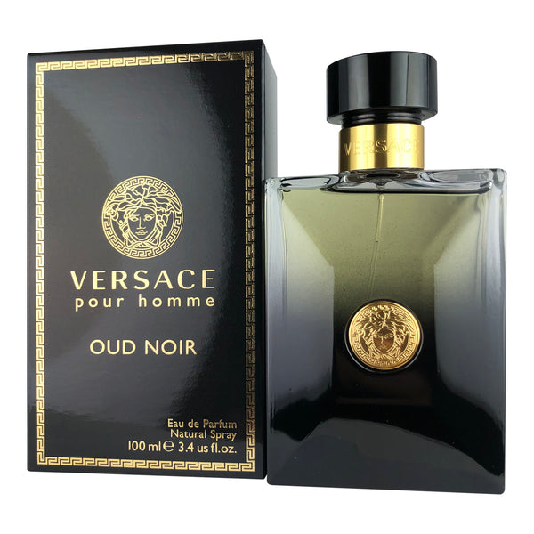 Versace Homme Oud Noir For Men By Versace 3.4 Oz Eau De Parfum Spray
