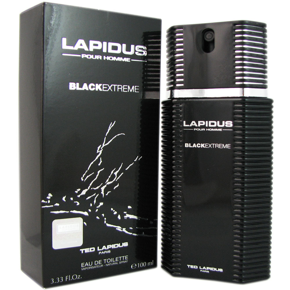 Black Extreme for Men by Ted Lapidus 3.33 oz Eau de Toilette Spray