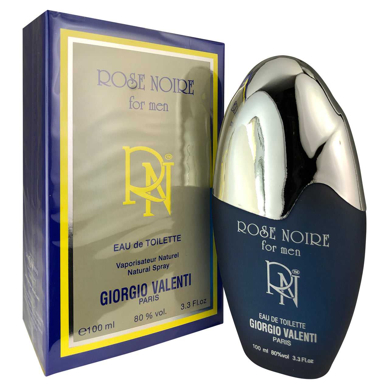 Rose Noir For Men by Giorgio Valenti 3.4 oz Eau De Toilette Spray