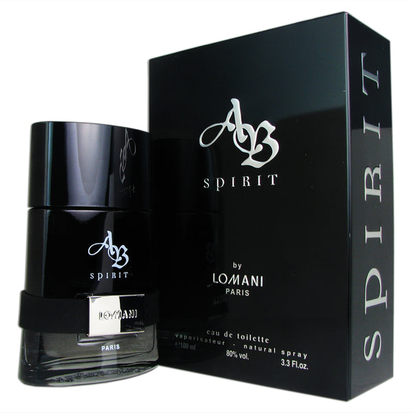 AB Spirit for Men by Lomani 3.3 oz 100 ml Eau de Toilette Spray