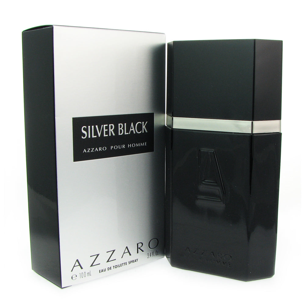 Azzaro Silver Black for Men by Azzaro 3.4 oz Eau de Toilette Spray