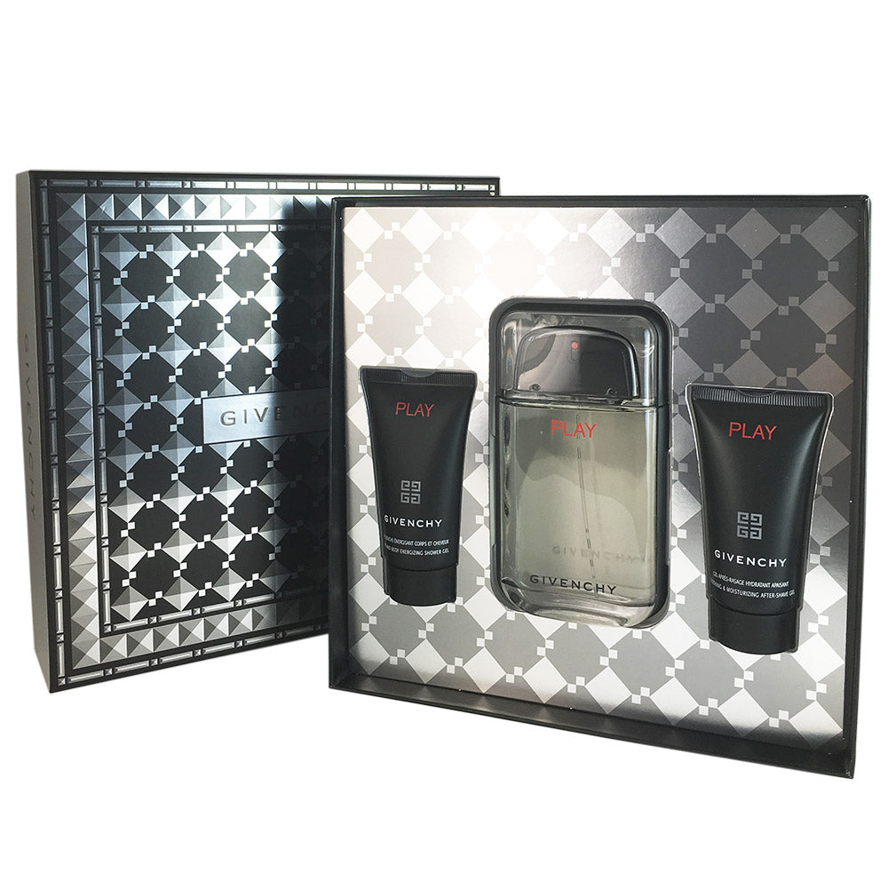 Givenchy Play Coffret for Men By Givenvhy 3 Piece Gift Set 3.3 oz Eau de Toilette Spray