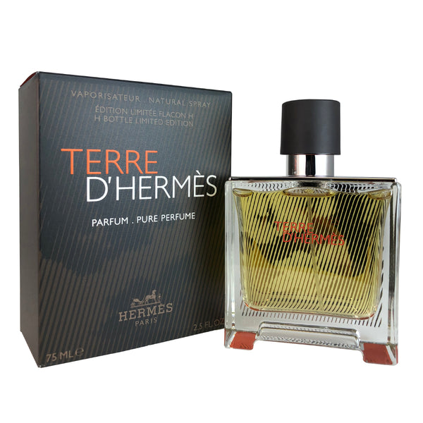 Terre D'hermes For Men by Hermes Limited Edition Pure Perfume Spray 2.5 oz