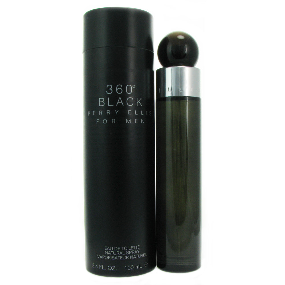 360 Black for Men by Perry Ellis 3.4 oz Eau de Toilette Spray