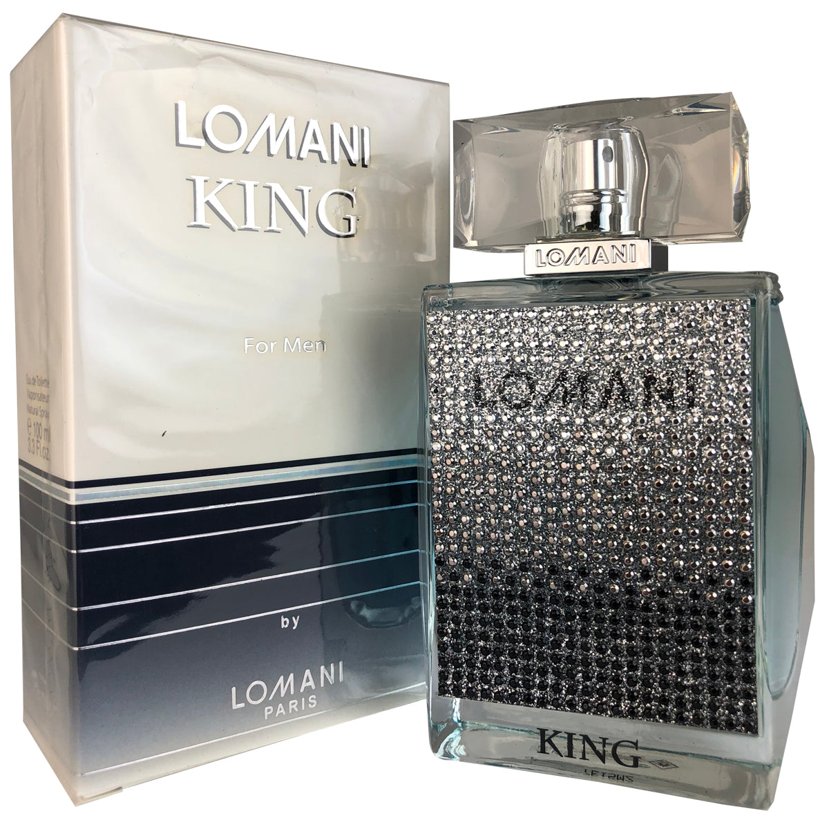 King for Men by Lomani Eau De Toilette 3.3 oz.