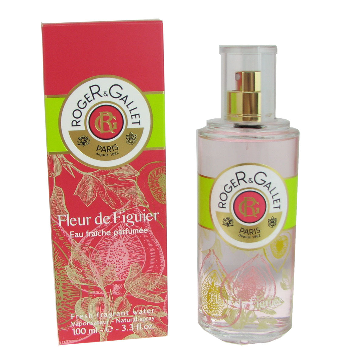 Fleur de Figuier for Women By Roger & Gallet 3.3 oz 100ml Fresh Fragrant Water Spray