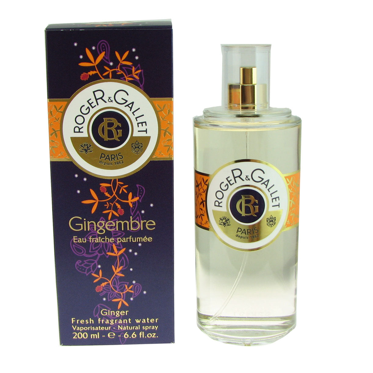 Roger & Gallet Gingembre 6.6 oz 200 ml Fresh Fragrant Water Spray