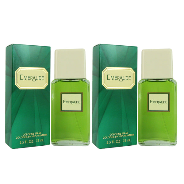 Emeraude for Women by Coty 2.5 oz 73.9 ml Cologne Spray-TWO
