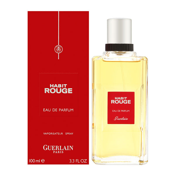 Habit Rouge by Guerlain for Men 3.4 oz Eau de Parfum Spray