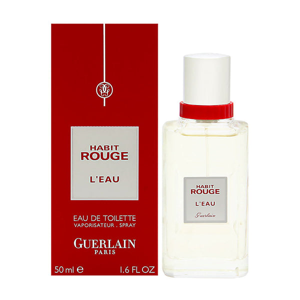 Habit Rouge L'eau by Guerlain for Men 1.6 oz Eau de Toilette Spray