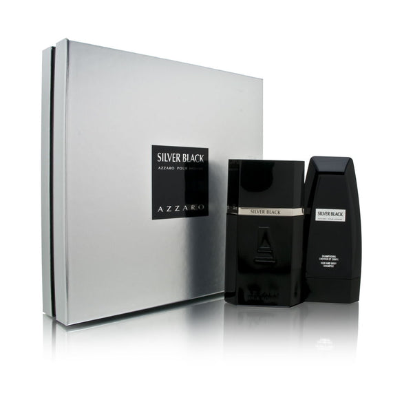 Azzaro Silver Black by Loris Azzaro for Men 2 Piece Set Includes: 3.4 oz Eau de Toilette Spray + 5.0 oz Hair & Body Shampoo