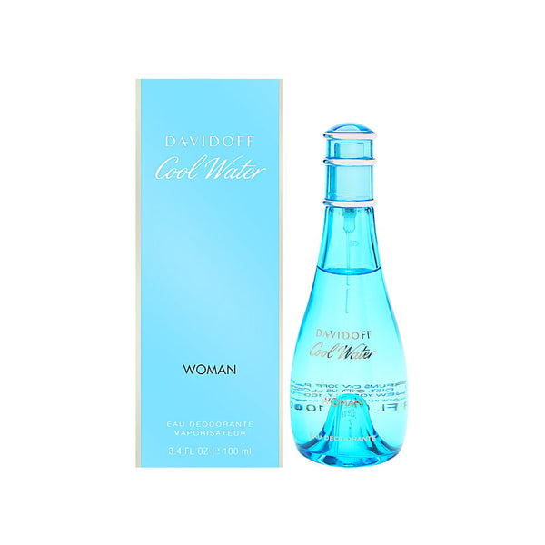 Cool Water by Davidoff for Women 3.4 oz Eau Deodorante Spray (Glass Bottle)