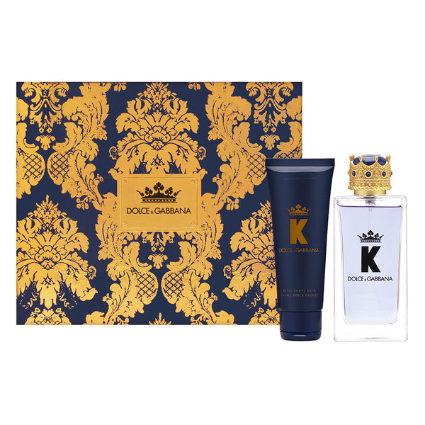 Dolce & Gabbana K for Men 2 Piece Set Includes: 3.3 oz Eau de Toilette Spray + 2.5 oz After Shave Balm
