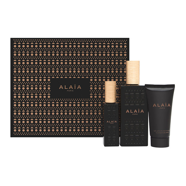 Alaia by Alaia Paris for Women 3 Piece Set Includes: 3.3 oz Eau de Parfum Spray + 2.5 oz Body Lotion + 0.33 oz Eau de Parfum Spray