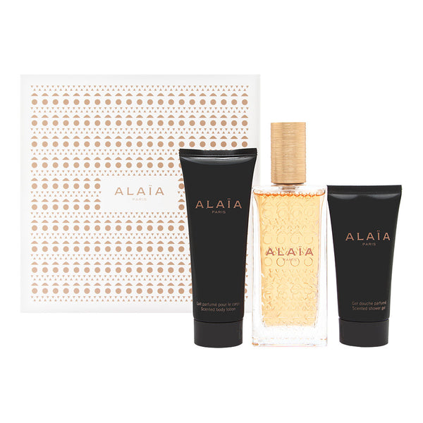 Alaia Blanche by Alaia Paris for Women 3 Piece Set Includes: 3.3 oz Eau de Parfum Spray + 2.5 oz Body Lotion + 1.6 oz Shower Gel