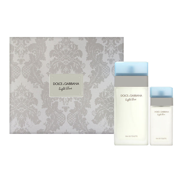 Light Blue by Dolce & Gabbana for Women 2 Piece Set Includes: 3.3 oz Eau de Toilette Spray + 0.84 oz Eau de Toilette Spray