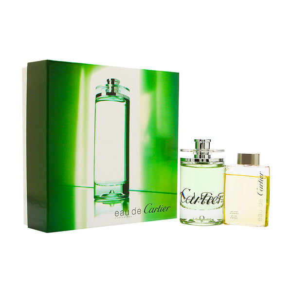 Eau de Cartier Concentree by Cartier 2 Piece Set Includes: 3.3 oz Eau de Toilette Spray + 2.5 oz All Over Shampoo