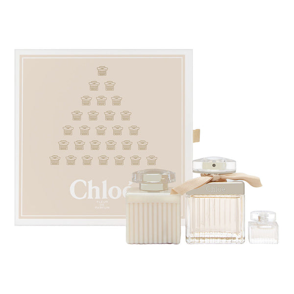 Chloe Fleur de Parfum for Women 3 Piece Set Includes: 2.5 oz Eau de Parfum Spray + 3.4 oz Perfumed Body Lotion + 0.17 oz Eau de Parfum Miniature Collectible