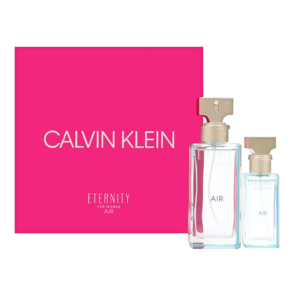 Eternity Air by Calvin Klein for Women 2 Piece Set Includes: 3.4 oz Eau de Parfum Spray + 1.0 oz Eau de Parfum Spray