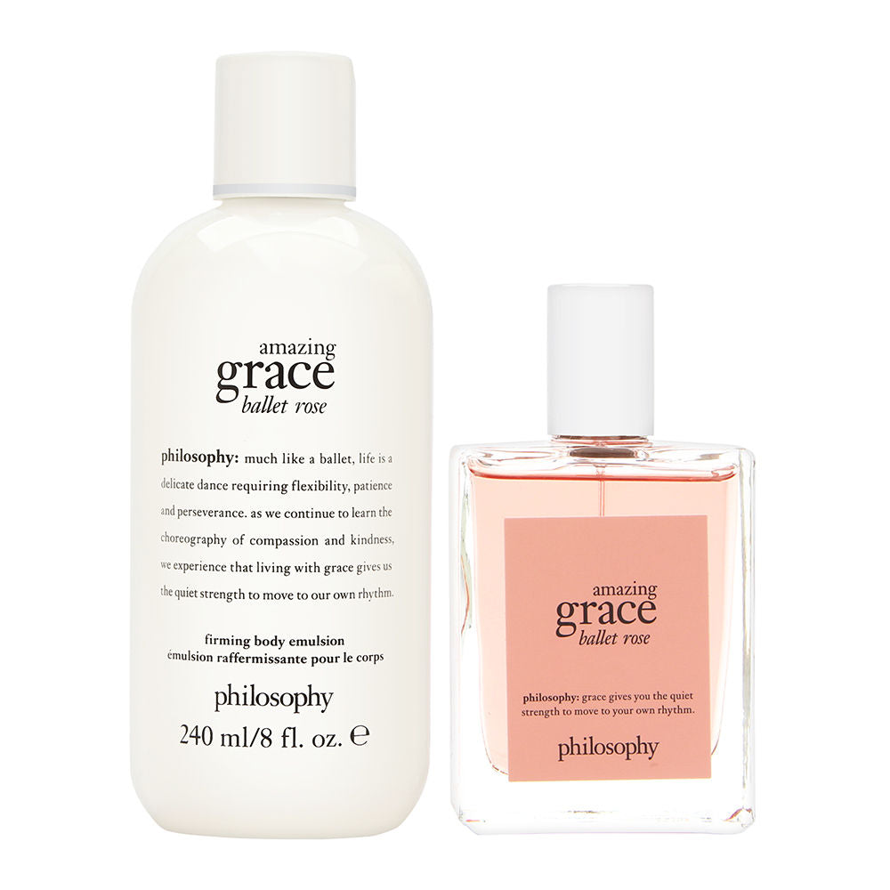 Philosophy Amazing Grace Ballet Rose Set 2 Piece Set: 2 oz Eau de Toilette Spray + 8 oz Body Emulsion