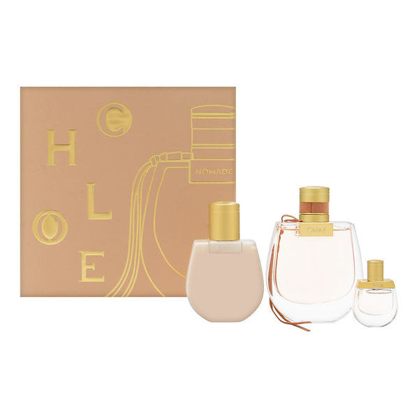 Chloe Nomade for Women 3 Piece Set Includes: 2.5 oz Eau de Parfum Spray + 3.4 oz Perfumed Body Lotion + 0.17 oz Eau de Parfum Miniature Collectible
